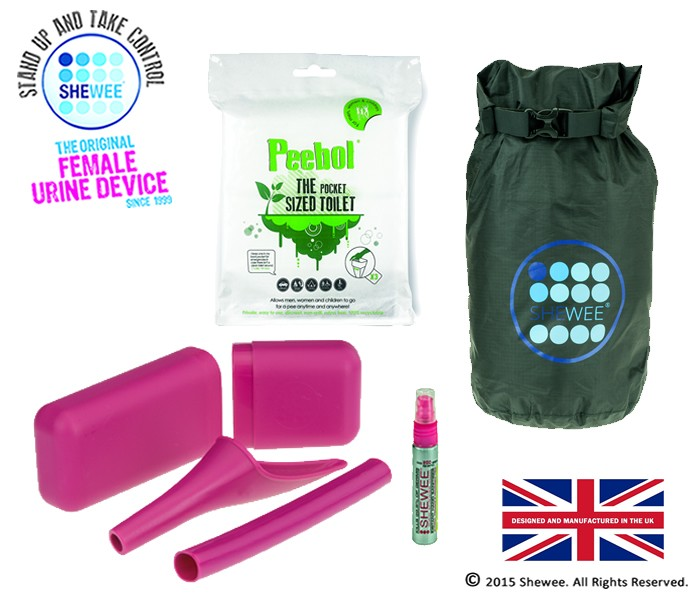 NEW!!! She Can Pee Pack Pink – Survival Pack
