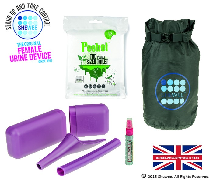 NEW!!! She Can Pee Pack Purple – Survival Pack