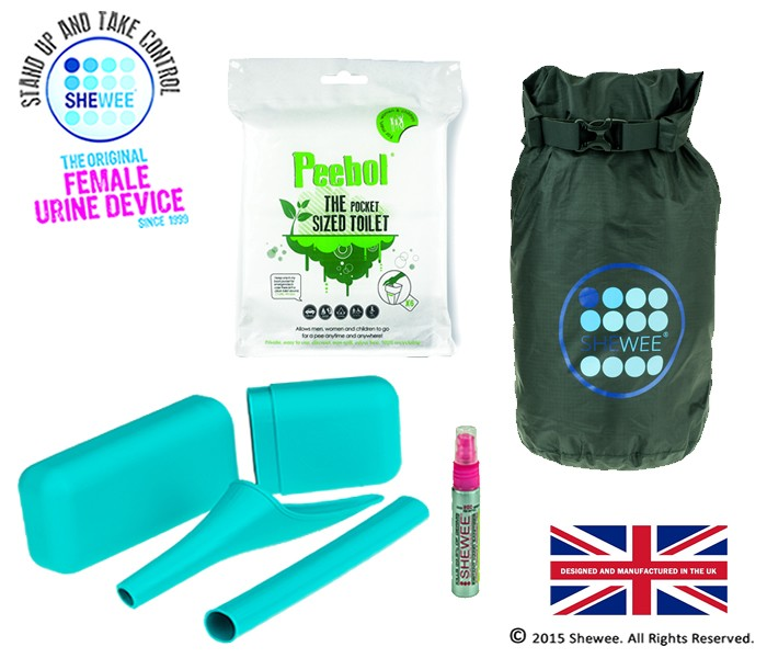 She Can Pee Pack – Aqua – Survival Pack