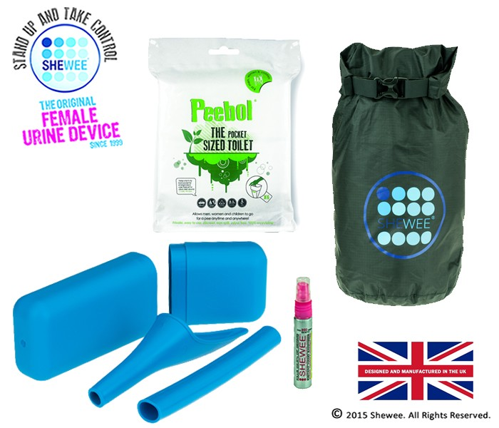 She Can Pee Pack Blue – Survival Pack