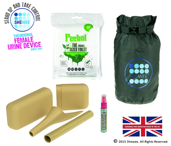 She Can Pee Pack – Sand – Survival Pack