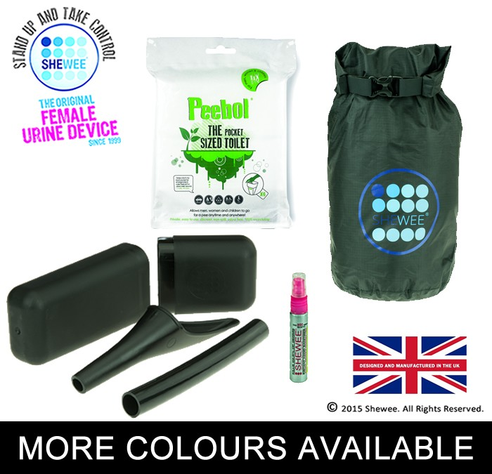 She Can Pee Pack – Black – Survival Pack