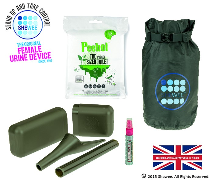 She Can Pee Pack – NATO Green – Survival Pack